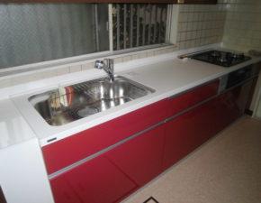 キッチンの印象が明るくなりました キッチンリフォーム パナソニック リビングステーションV 設置写真