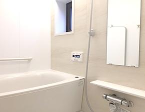 お風呂掃除が捗ります♪ ユニットバスリフォーム パナソニック MR-X 設置写真