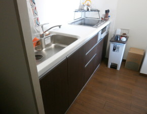 低価格のキッチンリフォームでもお家の雰囲気が一新!!気分も新鮮に♪  パナソニック リビングステーションV 設置写真