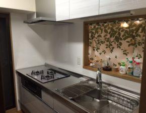 ステンレスキッチンに交換したらお料理が楽しくなりました キッチンリフォーム クリナップ クリンレディ 設置写真