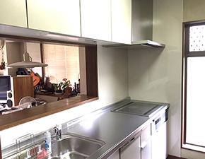 N様邸 キッチン・洗面化粧台リフォーム  TOTO ミッテ 設置写真